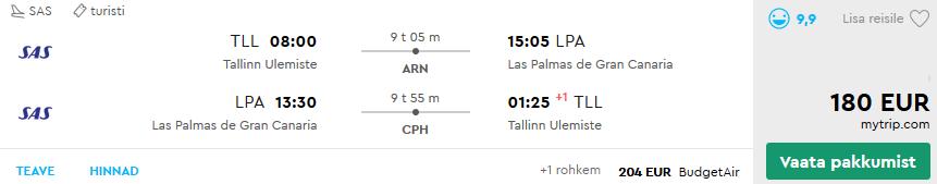 Lennud Las Palmas