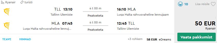 Lennud Maltale